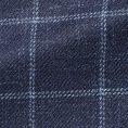 Темно-синий пиджак в белую клетку структуры твил