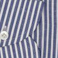 Синяя сорочка в белую полоску
