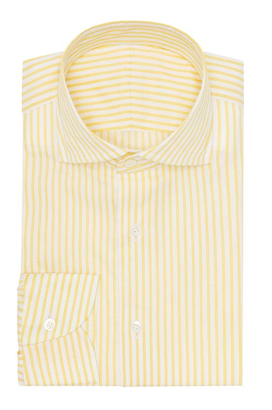 Желтая сорочка в полоску