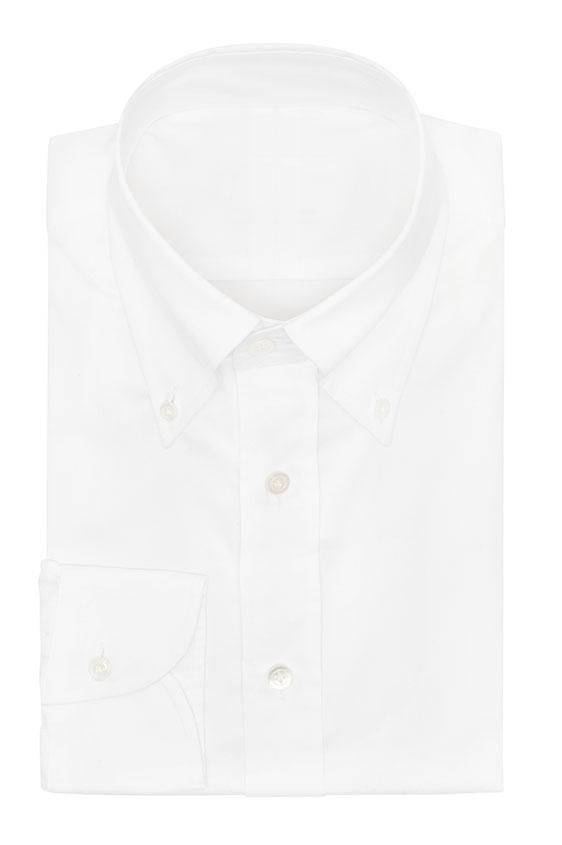 Белая сорочка с микроструктурой