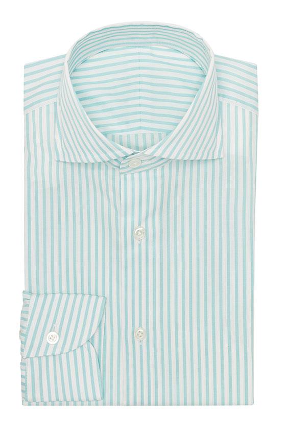 Светло-бирюзовая сорочка в полоску