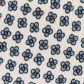 Белый галстук с цветочным принтом