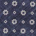 Синий галстук с цветочным принтом