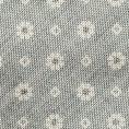 Серый галстук с цветочным принтом