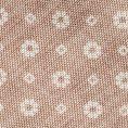 Светло-коричневый галстук с цветочным принтом