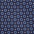 Темно-синий галстук в мелкий рисунок