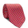 Красный галстук в мелкий рисунок