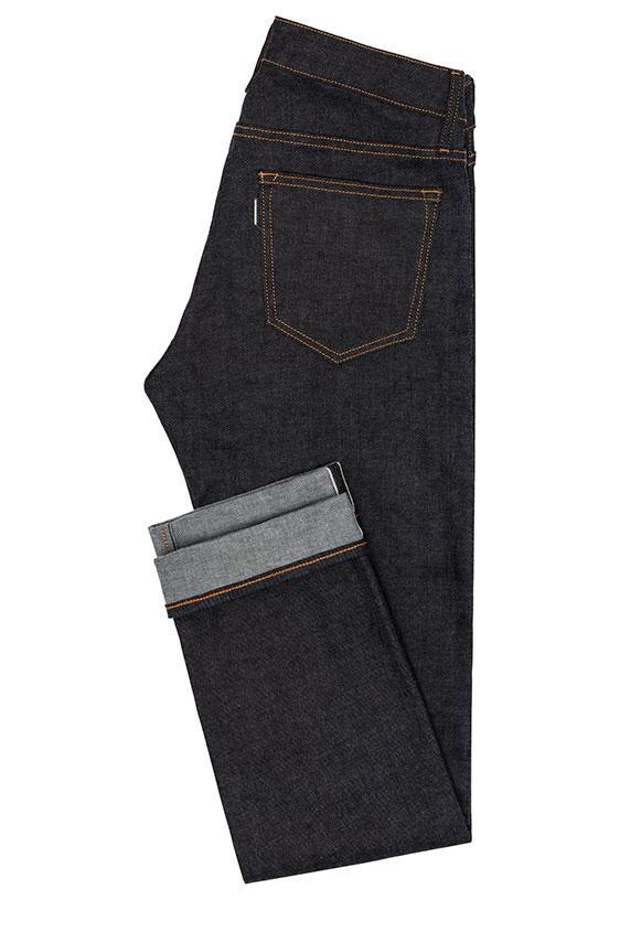 Мужские эластичные джинсы из сырого денима selvedge