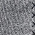Серый нагрудный платок с синей окантовкой