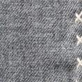 Серый нагрудный платок с бежевой окантовкой