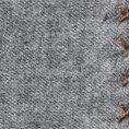 Серый нагрудный платок с коричневой окантовкой