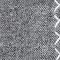 Серый нагрудный платок с белой окантовкой