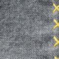 Серый нагрудный платок с жёлтой окантовкой