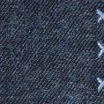 Синий нагрудный платок с голубой окантовкой