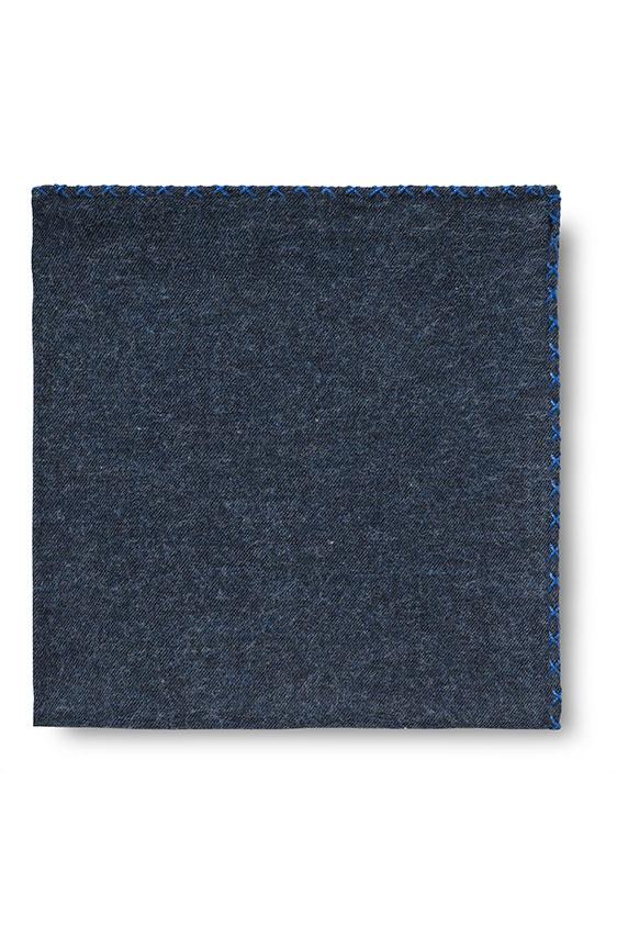 Синий нагрудный платок с синей окантовкой