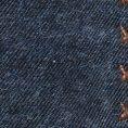 Синий нагрудный платок с коричневой окантовкой