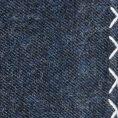 Синий нагрудный платок с белой окантовкой