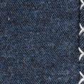 Синий нагрудный платок с серой окантовкой