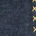 Синий нагрудный платок с жёлтой окантовкой