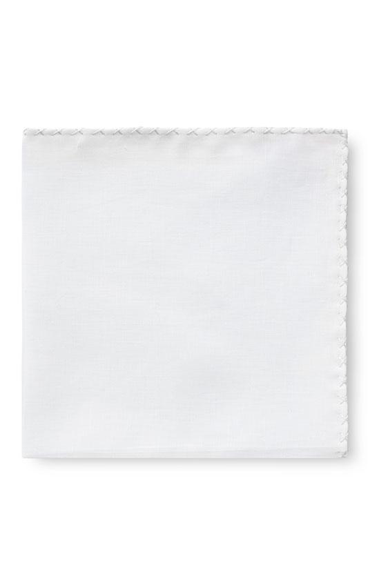 Белый нагрудный платок с белой окантовкой