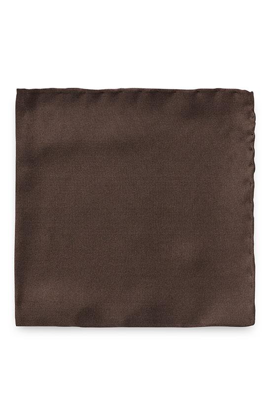 Коричневый нагрудный платок