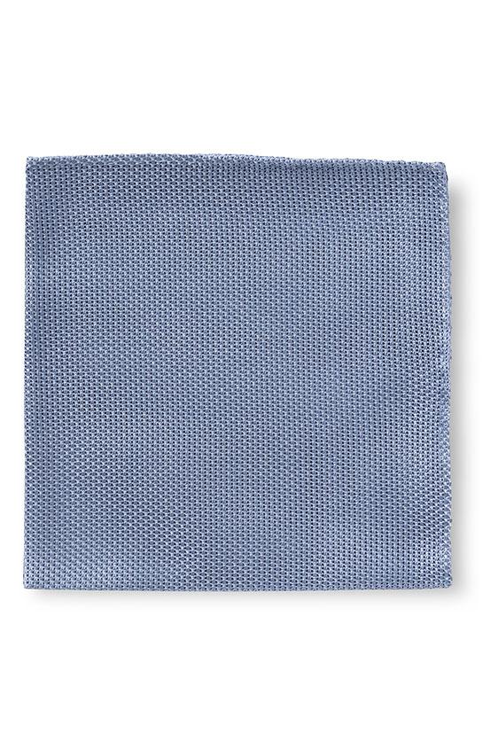 Голубой нагрудный платок плетеной фактуры