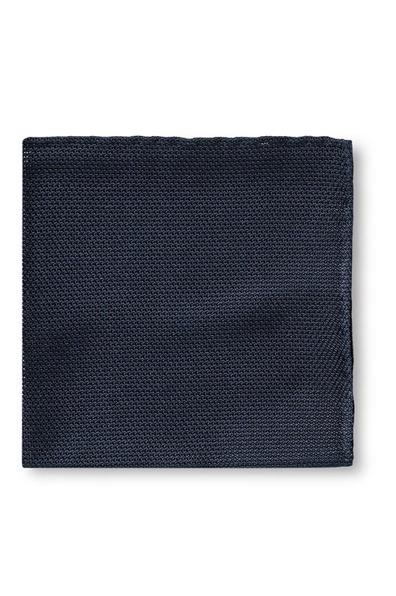 Темно-синий нагрудный платок плетеной фактуры