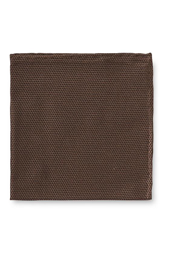 Темно-коричневый нагрудный платок плетеной фактуры