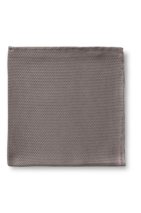 Серый нагрудный платок плетеной фактуры