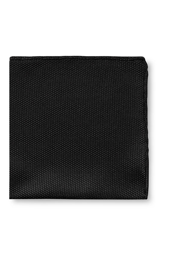Чёрный нагрудный платок плетеной фактуры