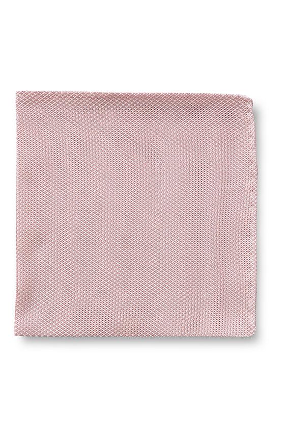 Розовый нагрудный платок плетеной фактуры