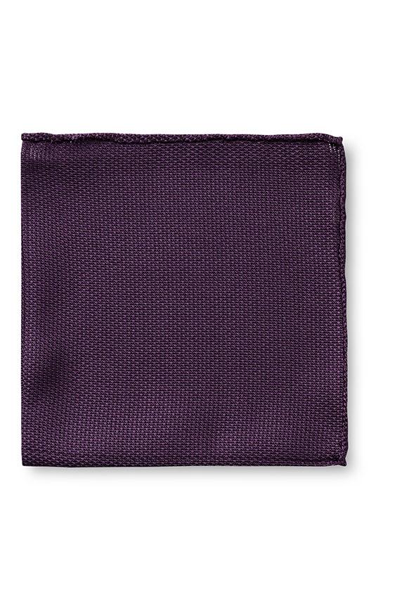 Темно-фиолетовый нагрудный платок плетеной фактуры