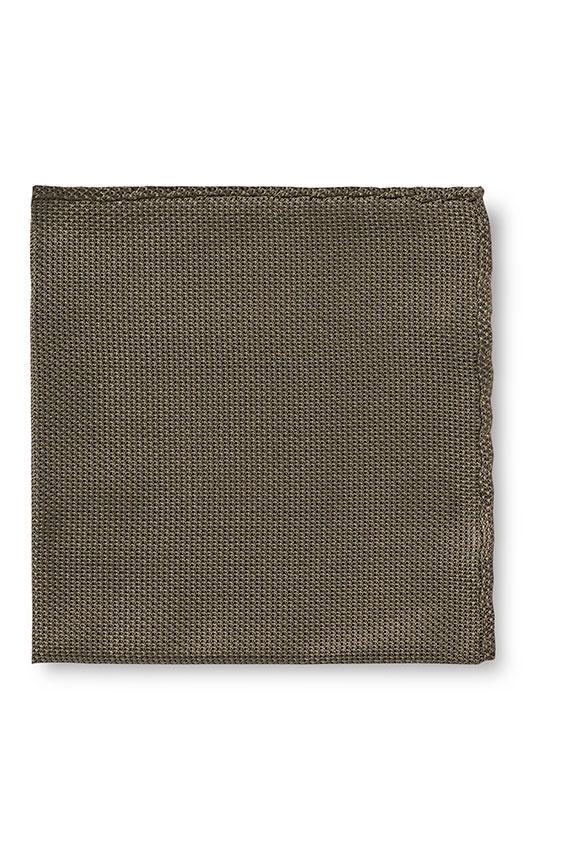 Зелёный нагрудный платок плетеной фактуры
