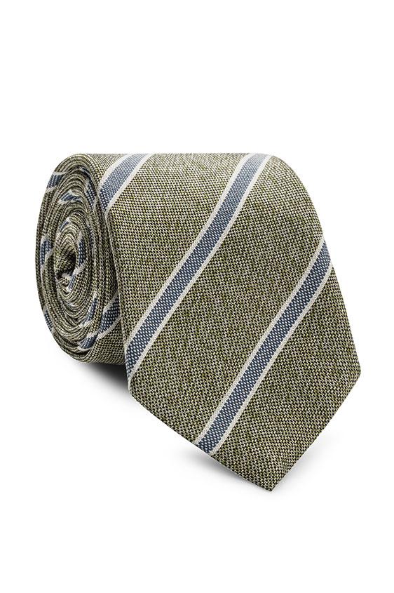 Зелёный галстук в синюю полоску