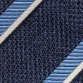 Тёмно-синий галстук в полоску