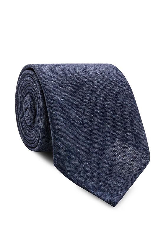 Темно-синий галстук
