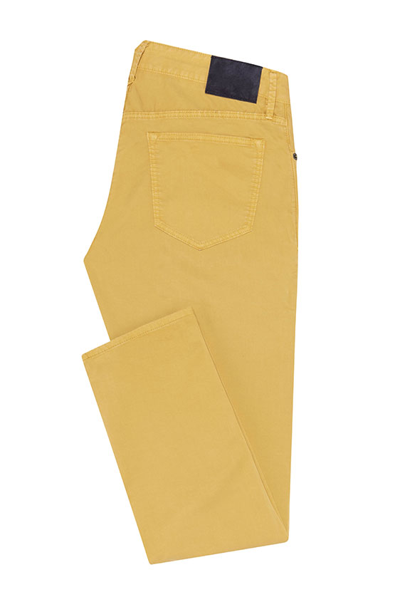 Брюки чинос жёлтого цвета