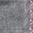 Серый нагрудный платок с розовой окантовкой