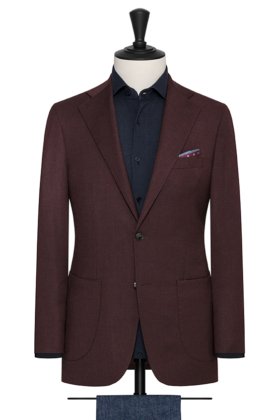 Бордовый пиджак из шерсти
