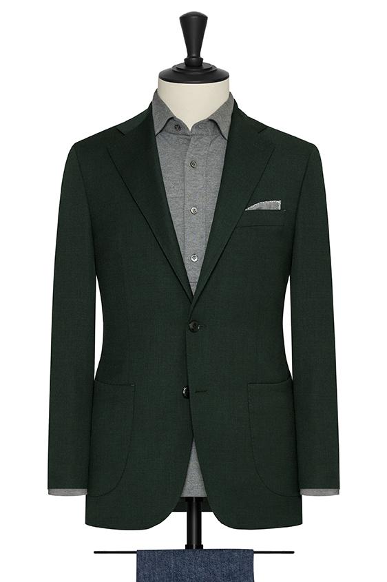 Зеленый пиджак из шерсти