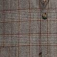 Темно-бежевый пиджак из шерсти в клетку «Гленчек»