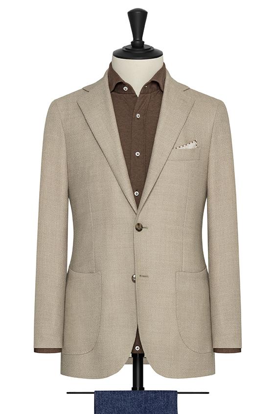 Светло-бежевый пиджак из шерсти
