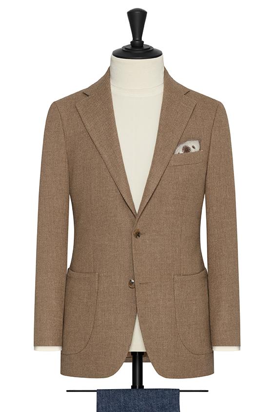 Бежевый пиджак из шерсти и шёлка