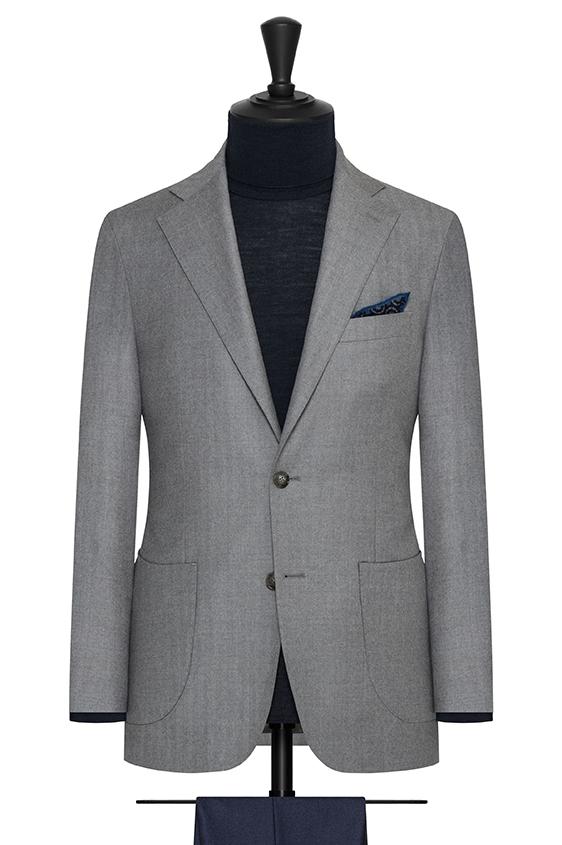 Светло-серый пиджак в ёлочку