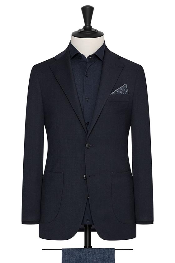 Темно-синий пиджак из смесовой шерсти