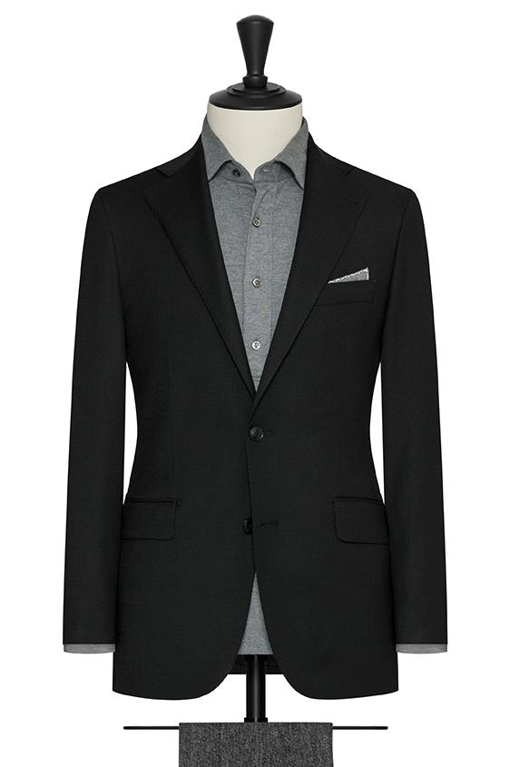 """Чёрный пиджак с эфектом """"стрейтч"""""""
