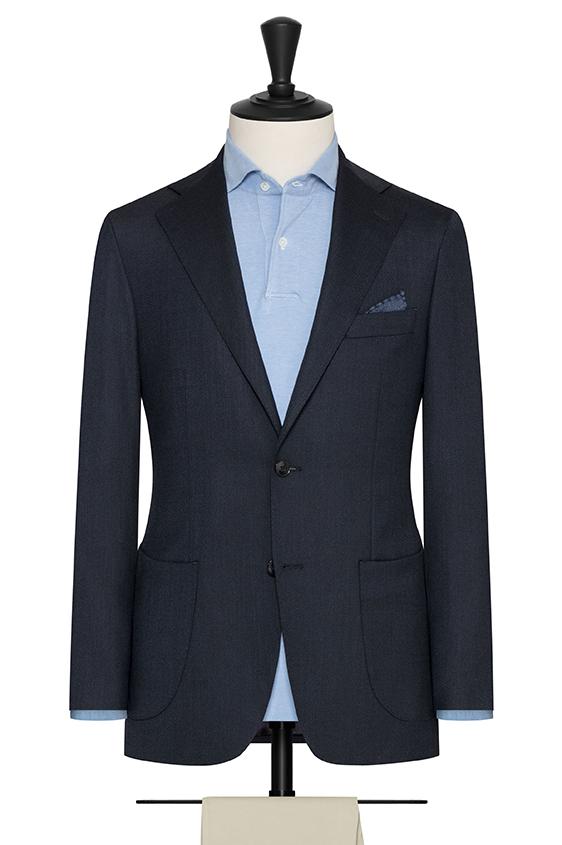 """Темно-синий пиджак с эфектом """"стрейтч"""""""