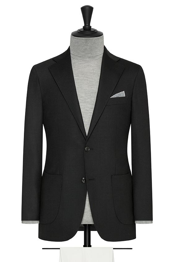 Черный пиджак из смесовой шерсти