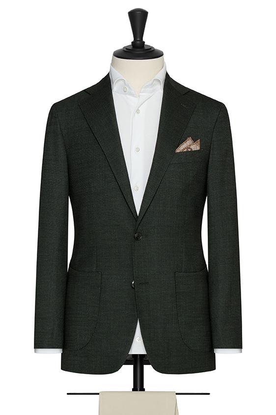 Зелёный пиджак из смесовой шерсти