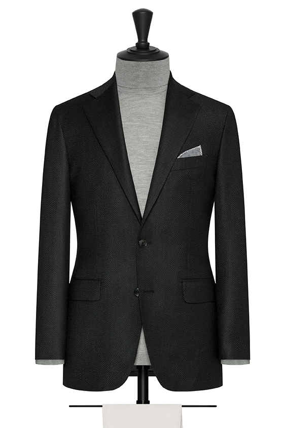"""Черный пиджак с эфектом """"стрейтч"""""""